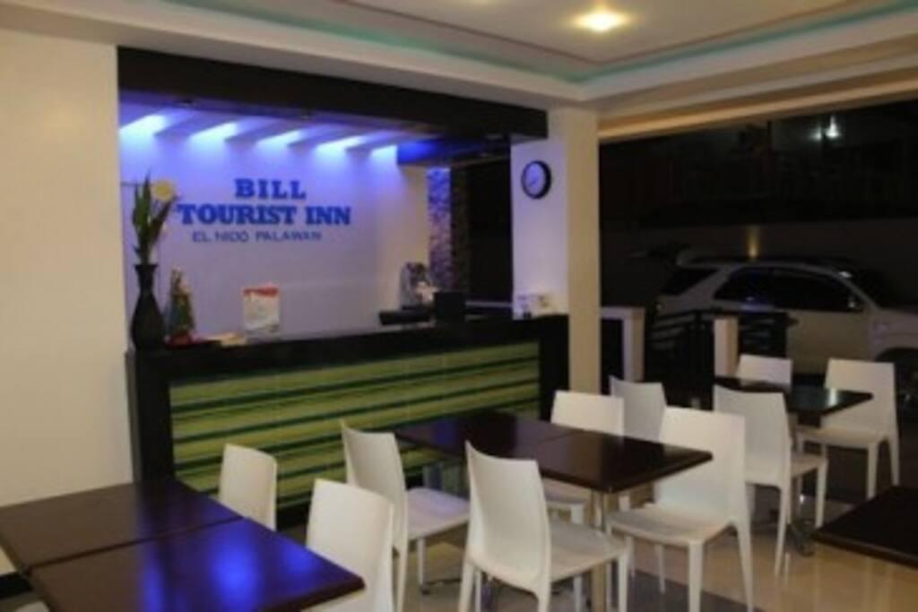 Bill tourist inn lobby area