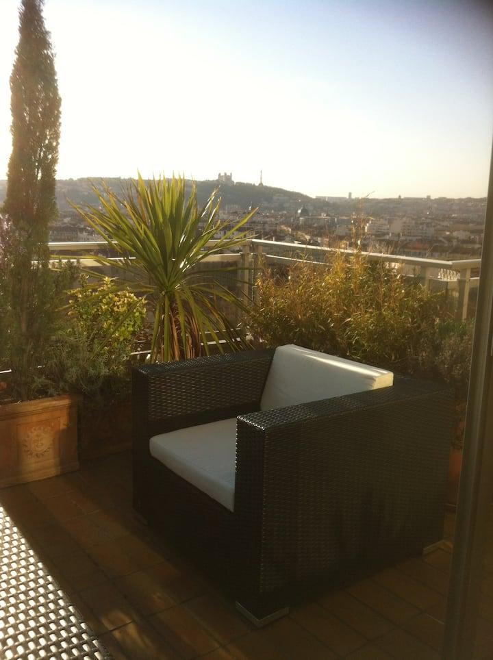Naturiste Skyterrace & room,Terrasse & chambre