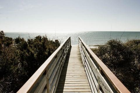 Sea Oats East of Emerald Isle, NC Beachfront