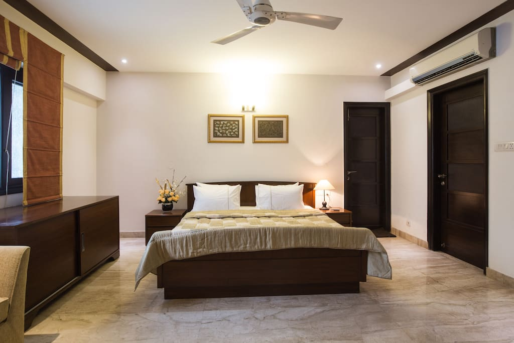 Our Master Bedroom with a luxury double bed