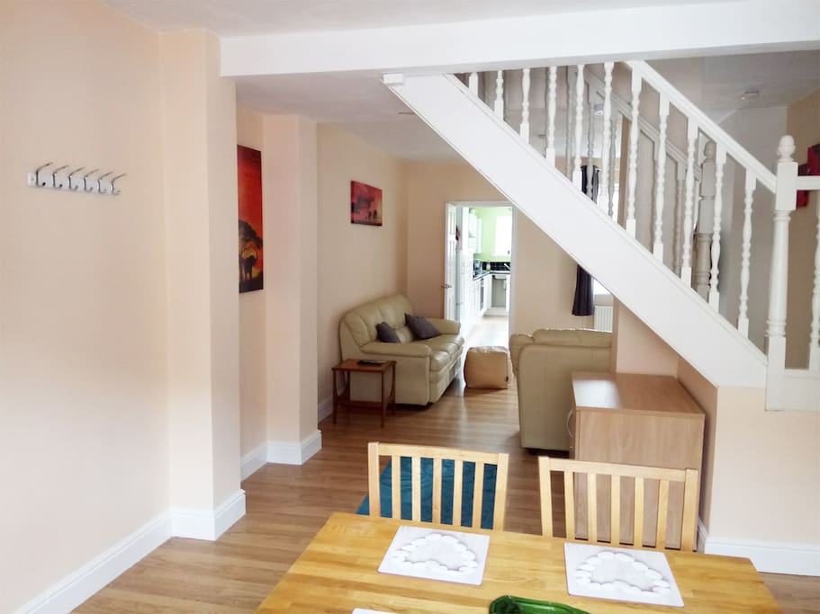Open plan living, particularly good for family's