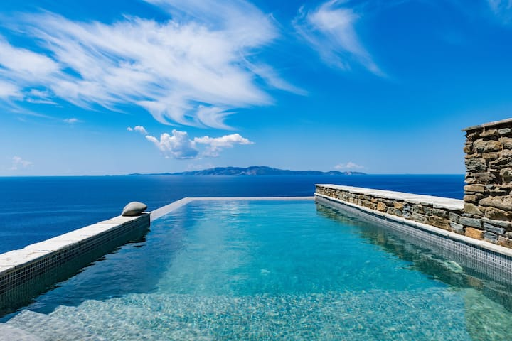 Vathi Bleu | 2 Bedroom Villa with Pool & Sea View