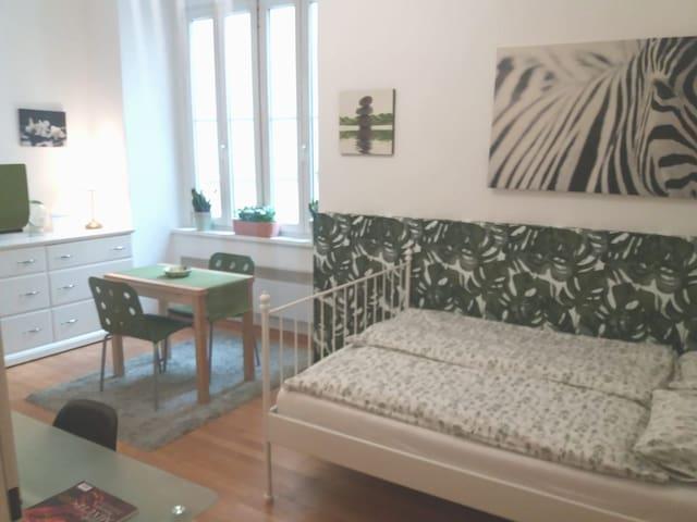 Green Apartment in scene quarter next Center