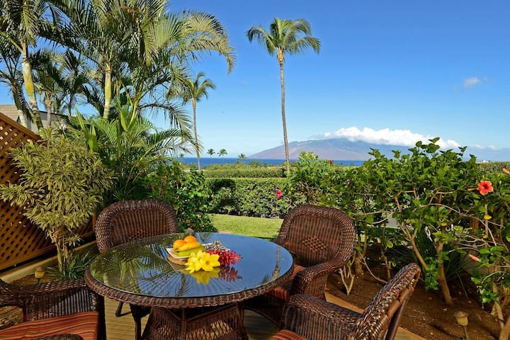 Enjoy dining on your own private lanai with quality furniture and beautiful sunset views.