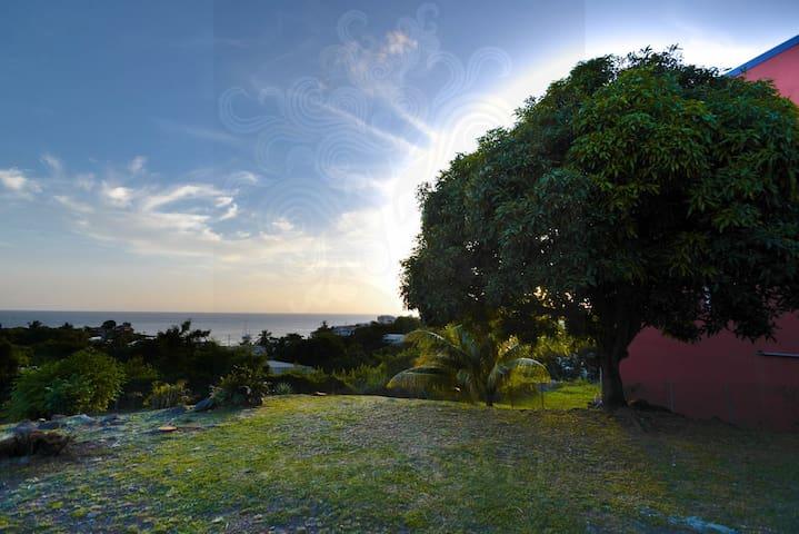 appartement avec son jardin et sa vue mer