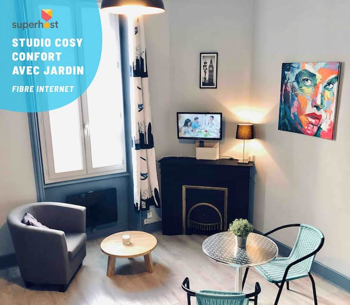Studio Cosy «Confort**» avec Jardin