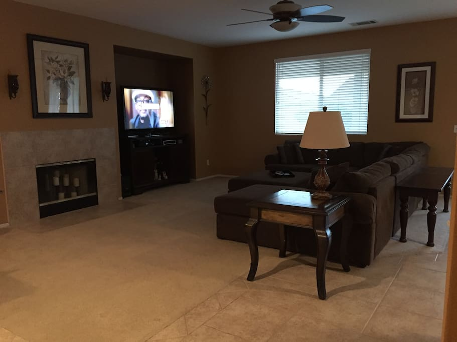 large open room for entertaining