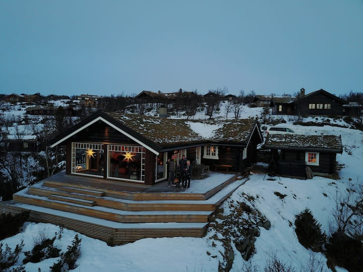 Hytte med fantastisk utsikt over Hardangervidda