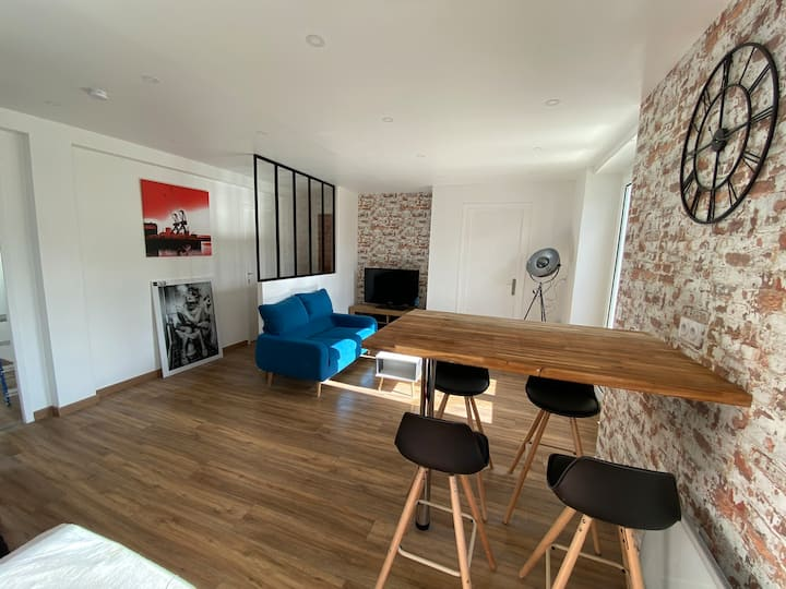 Chambre luxueuse, 2 chambres 60m2 terrasse sud