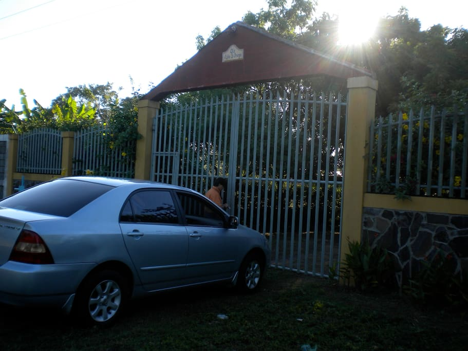 Front Gate from the main road.