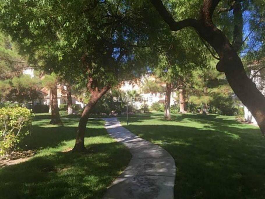 Walking paths.