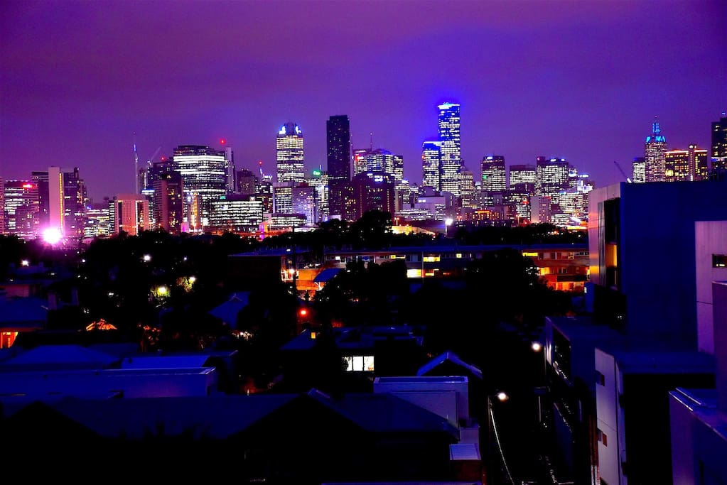 Fab City skyline night view