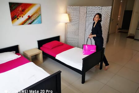 Photos in this listing are sample photos of various rooms with same layout.  Note:Queen Bed Studios have no TV.