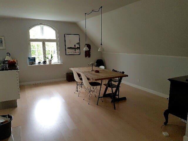 Rummelig villalejlighed, have og tagterrasse - Ballerup - Huis