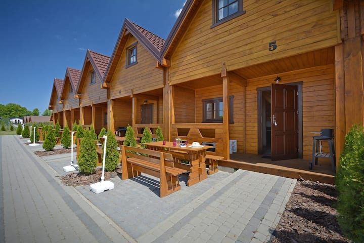 New, well equipped holiday house located 800 m from the sea.