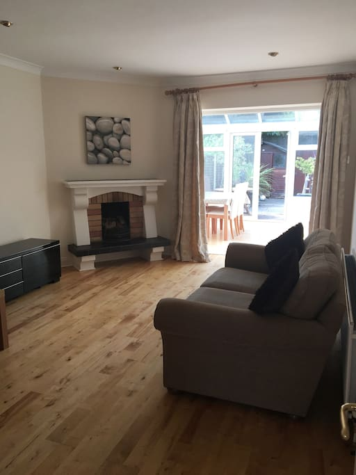Sitting room and conservatory