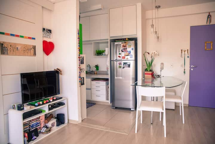 Cute-Cool-Cozy Flat in Cambuí