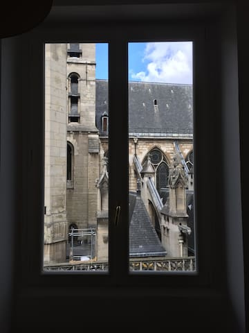 View from the central window