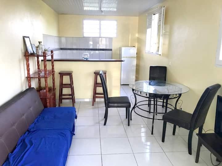 Appartamento con 2 stanze a Le Marin, con splendida vista mare, giardino attrezzato e WiFi