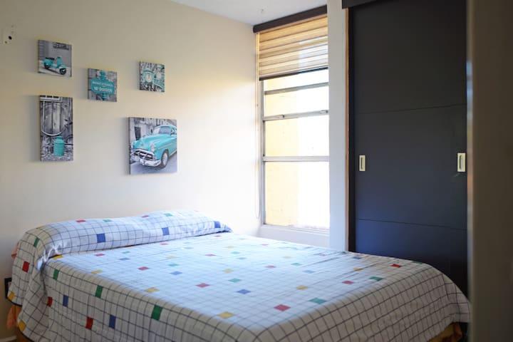 Habitación con cama matrimonial - Ciudad de México - Apartemen