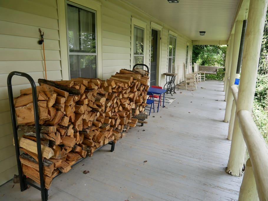 The house is well-stocked with wood for the fireplace, help yourself!