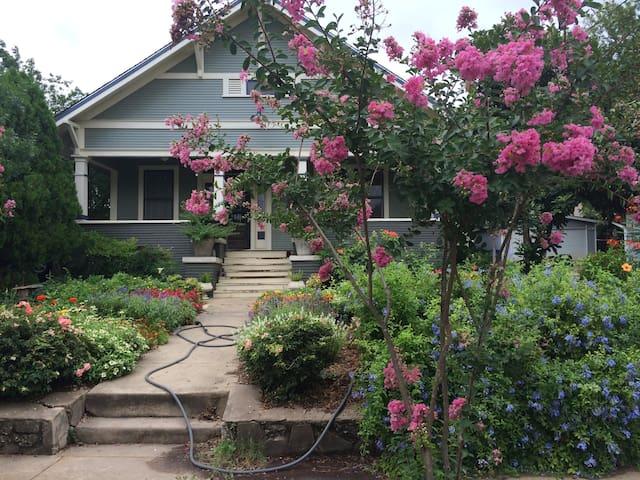 A 100 year old Craftsman home near downtown San Antonio.