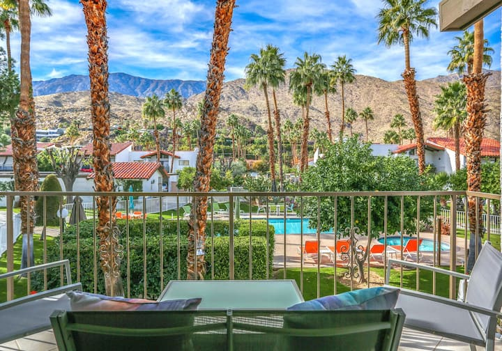 Modern Condo w/ Mountain View, Private Balcony, Shared Pools/Hot Tub - Dogs OK!
