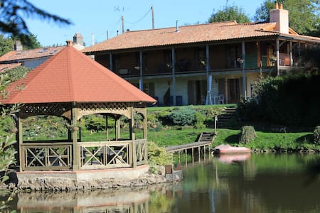 Lake Noble: heated pool, hot tub, fishing lake - Saint-Germain-l'Aiguiller - Apartemen