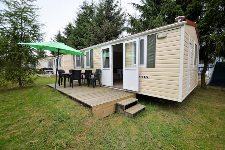 Cute Mobile Home in Januv Dul Bohemian near Forest