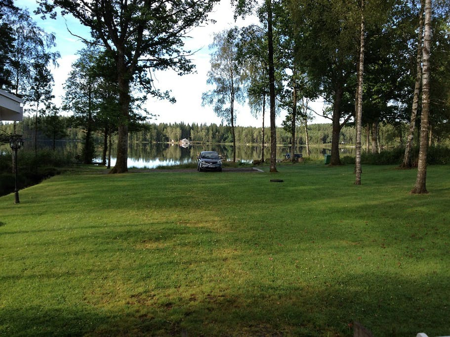 View from the house towards the lake
