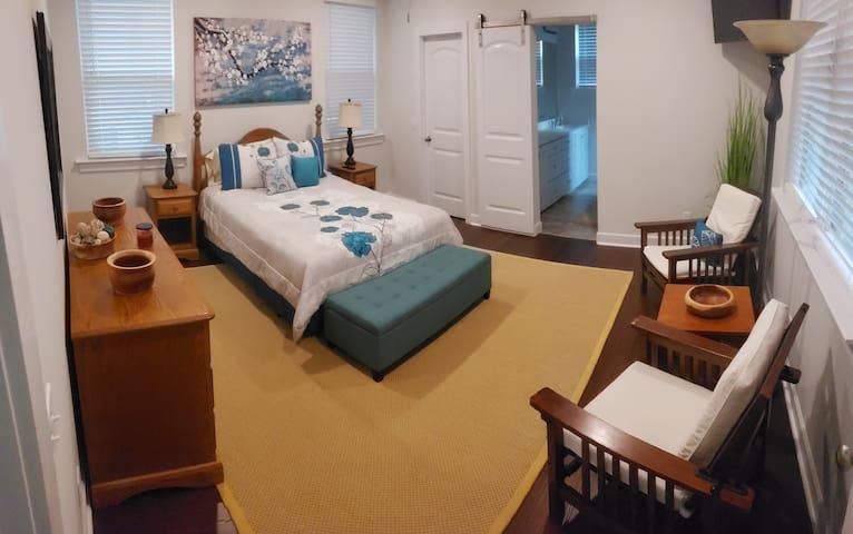 Master Bedroom on main level.  Queen bed