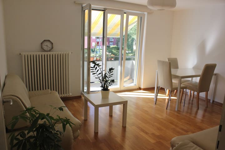 Bright double room in a calm, green area of Zurich