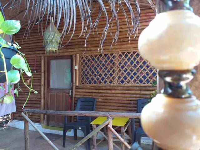 Bamboo Cottage with attached bathroom @ Angels Inn