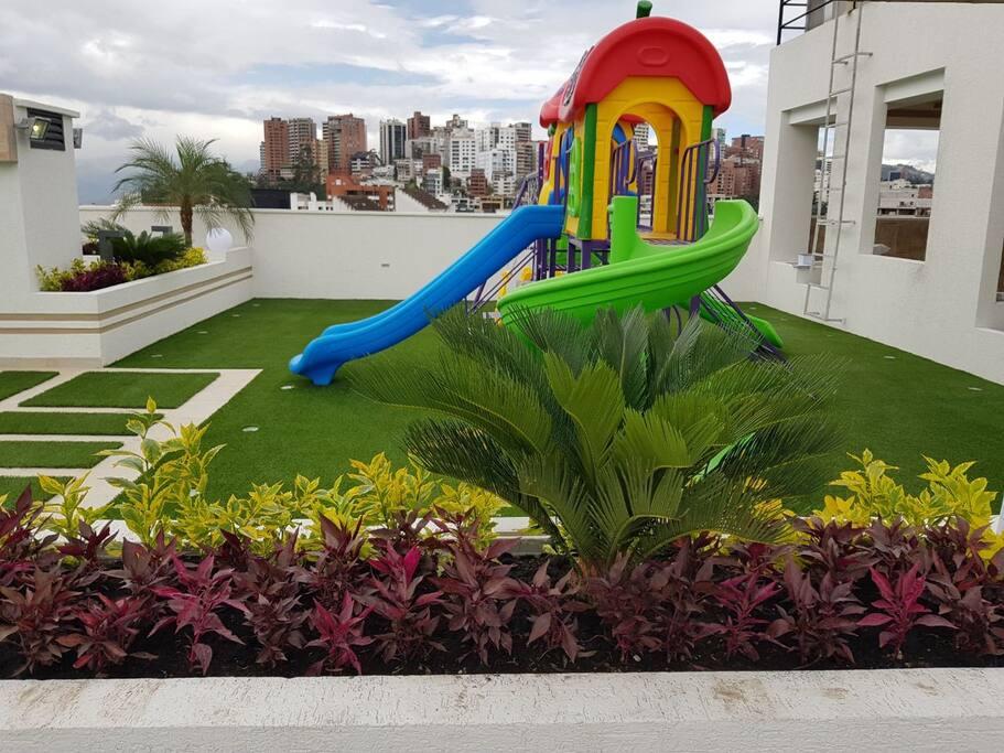 juegos infantiles en la terraza