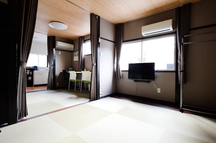 Cozy JPN Tatami House 2-storied, 2 min to JR sta