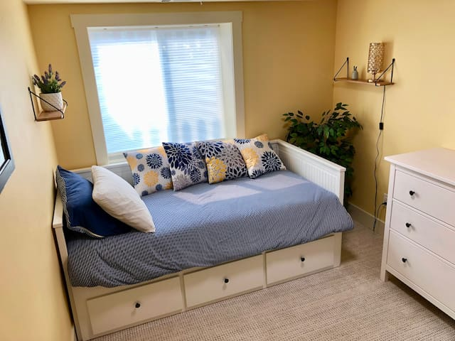 Room #2 with twin trundle bed that can be made into a king upon request