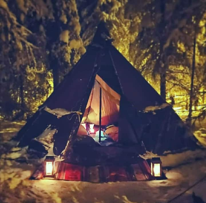 Winternight Glamping Experience in Ylläs
