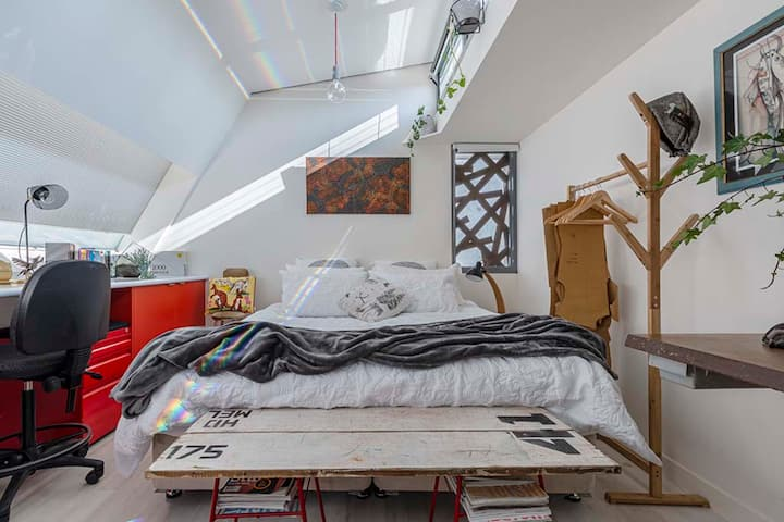 Funky 1 Bed Kodo Studio Quiet Retreat Fitzroy close to CBD