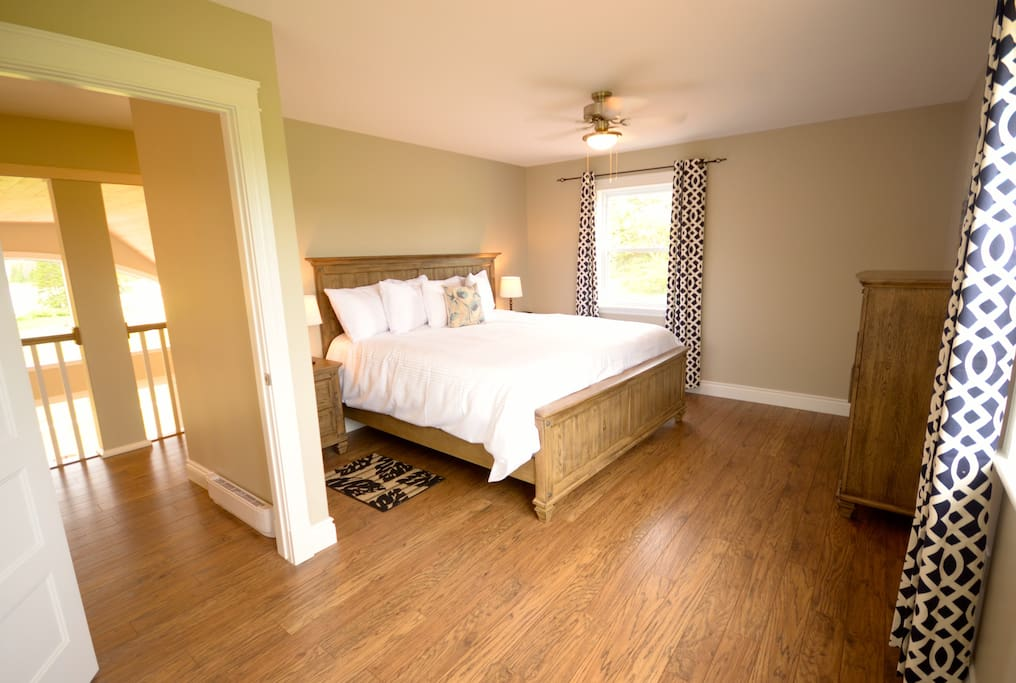 The master bedroom  with ensuite and walk in closet