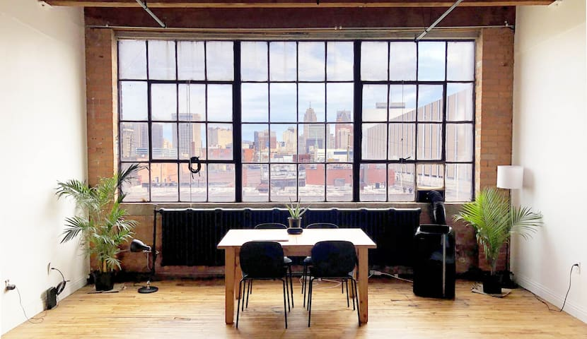 Downtown Warehouse Loft with Skyline View