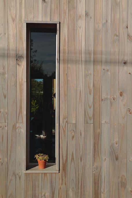 Detalle ventana entrada casa principal