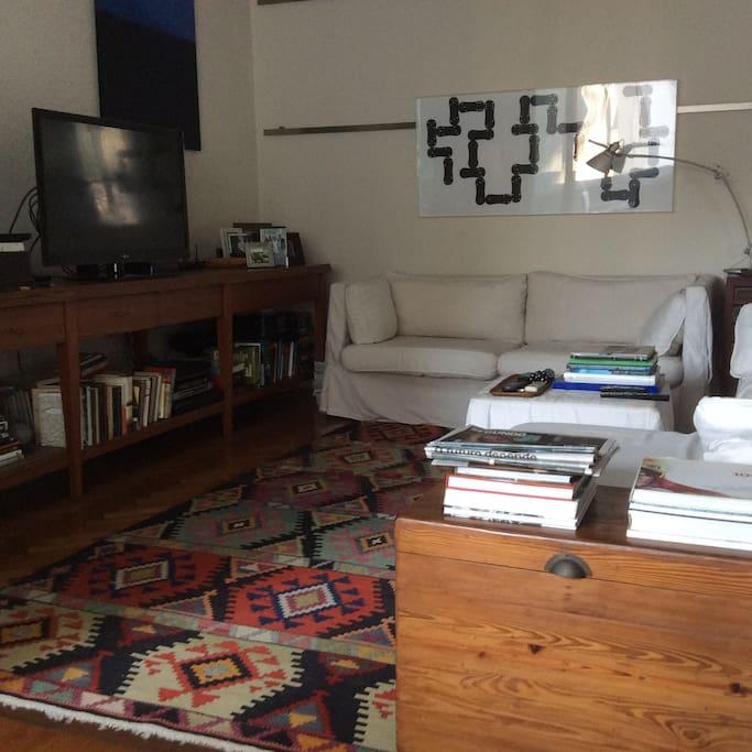 Sala de TV compartilhada