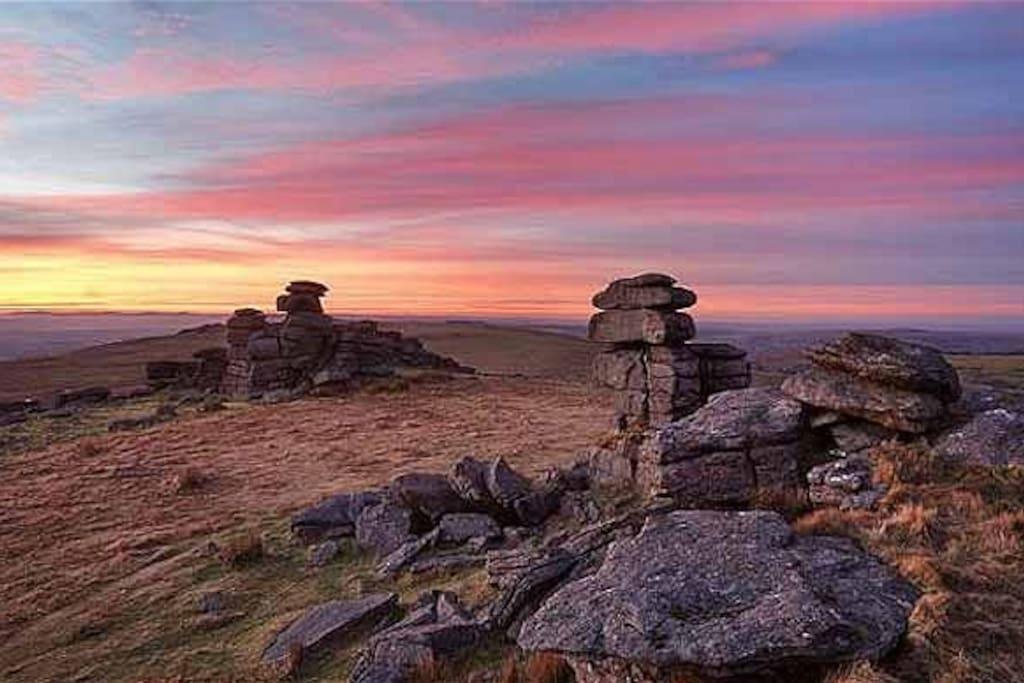 Dartmoor at sunset