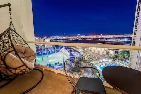 MGM 1BR 2BA condo Mtn & Strip views *NO Resort Fee