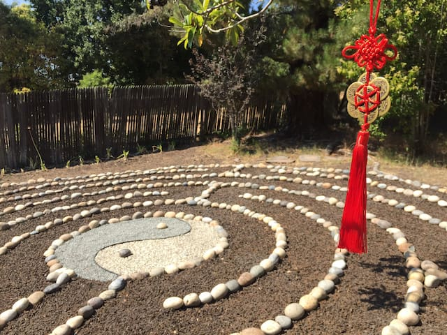 ZEN Japanese Guest Room with Meditation Labyrinth