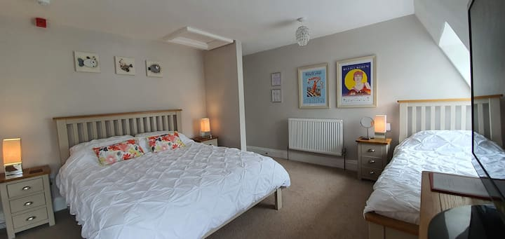 Large Cosy Family Room in the Heart of Ilfracombe