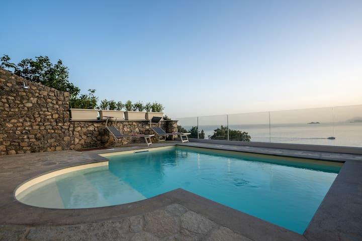 Casa Incanto ☀  Vista al mar, Piscina & Jardin