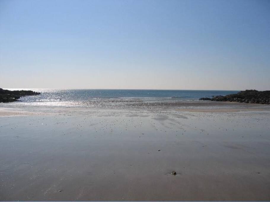 The beach opposite