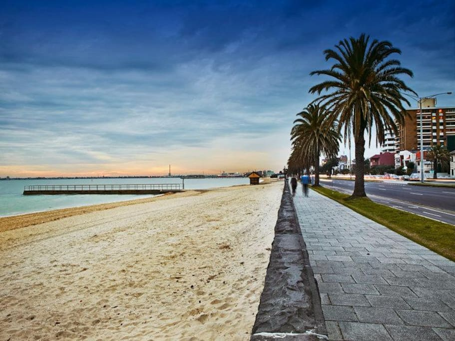 Walk or cycle along the beachfront
