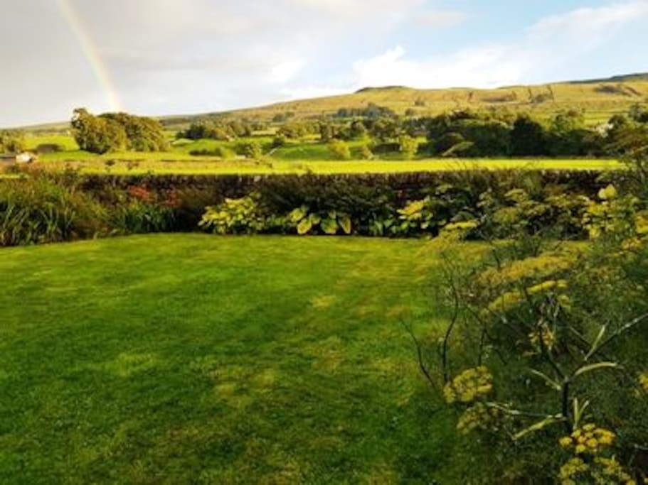 Stunning views of Wensleydale from the house, the annex and the gardens